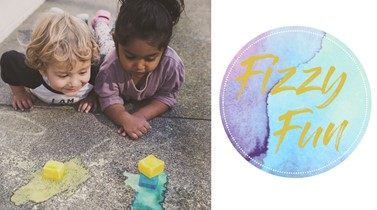 Toddler activity: fizzy fun for everyone