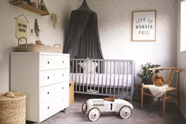 Keep it simple: a calm and cosy nursery