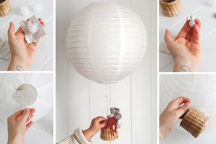 Fly high, little guy: make a toy hot air balloon