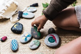 CRAFT: playful painted pebbles