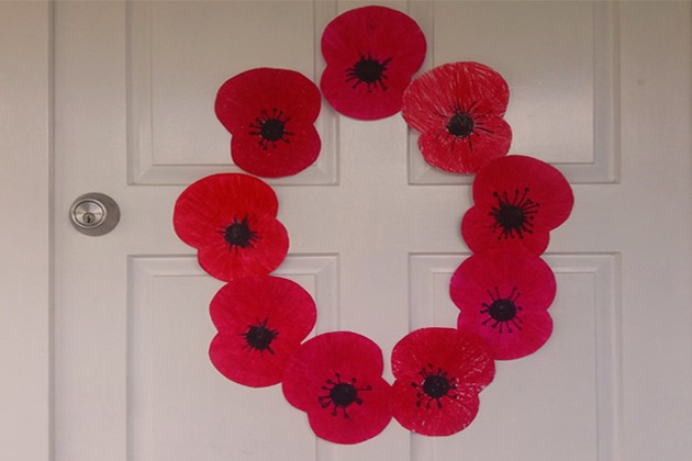 Make easy paper poppy decorations for Anzac Day