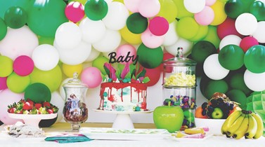 A fabulously fruity baby shower