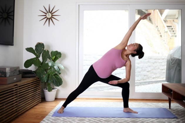 Mindful movement for a pregnant mama