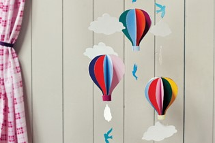 CRAFT: How to make a Hot-Air Balloon Mobile